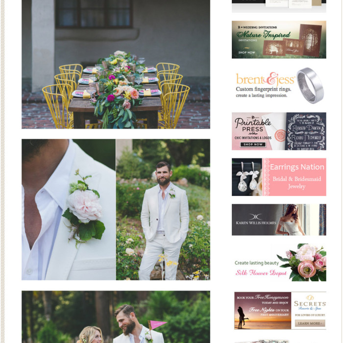 Featured! Summery Independence Day Wedding Inspiration // Castle House Bonny Doon Styled Shoot